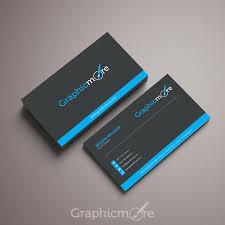Free Psd Business Card Templates Black Blue Business Card Template Mockup Design Free Psd
