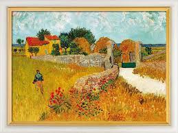 vincent van gogh painting un mas de provence farmhouse provence 1888 in museum framing