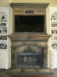 faux stone fireplace faux finish