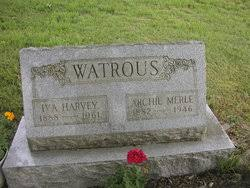 Iva Pearl Harvey Watrous (1888-1961) - Find A Grave Memorial
