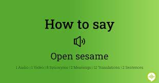 Hoe uit te spreken open sesame | HowToPronounce.com