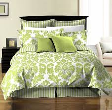 white green printed damask stripe reversible duvet cover sheet set duvet sheet sets