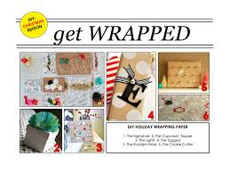 diy wrapping paper for the holidays