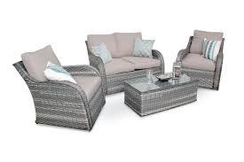 nottingham high back wicker rattan garden sofa patio furniture set