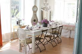 amazing shabby chicstyle diningroom shabby chic features flea market with bistro chairs with french chair