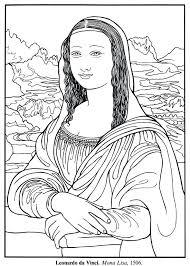 Mona Lisa Coloring Page Printable Bltidm