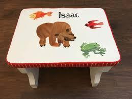 painted kids furniture. Child\u0027s Step Stool, Hand Painted Kids Brown Bear Furniture N