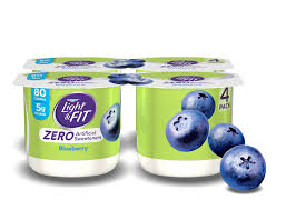 blueberry nonfat yogurt with zero artificial sweeteners
