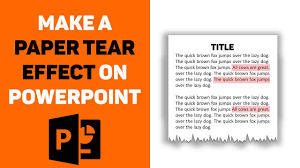 Powerpoint Newspaper Clipping Template Powerpoint Tutorial Make A Paper Tear Effect