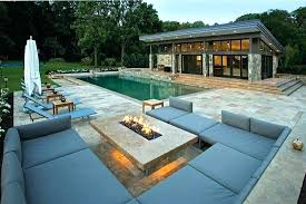 outside gas fireplace outdoor designs natural with bench and pool wood table fire pit insert