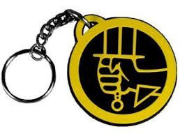 bprd logo keychain from boy ii the golden army