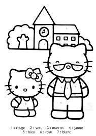 Magique Hello Kitty Facile Coloriage Magique Coloriages Pour Enfants