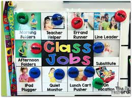 First Grade Job Chart 73 Memorable Classroom Job Chart Images