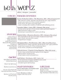 Indesign Beth Wertz Resume Design
