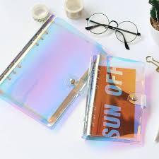 <b>2019</b> Y <b>NEW A5</b> A6 PVC holographic binder loose notebook <b>diary</b> ...