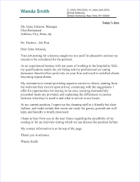 Do You Need An Address On A Cover Letter Hostess Cover Letter Sample