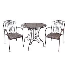 great bistro settings outdoor furniture find marquee 3 piece rustic metal bistro set at bunnings warehouse
