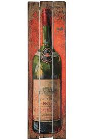 atorscom wine bottle wall art white metal plaque