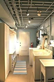 basement ceiling ideas on a budget. Inexpensive Basement Ceiling Laundry Room Finished But Clean Bright Storage Ideas Cheap On A Budget T