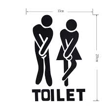whitelotouse funny toilet bathroom sign decal vinyl sticker wall decals bathroom decoration for office home cafe hotel man woman ca home