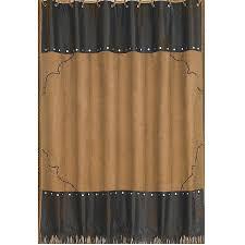 barbwire western bath decor shower curtain dark tan