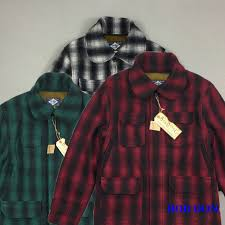 bob dong woolen plaid checks hunting jacket vintage winter men s wool fleece coat red black