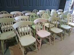 details about farmhouse kitchen dining vintage shabby chic painted chairs in pastel colour