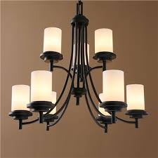 american country nordic iron paint light black chandelier glass chandelier two tiers adjule