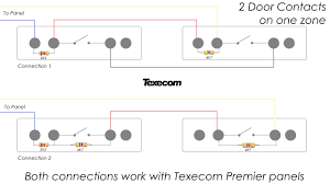 how to connect 2 door contacts on one eol zone texecom premier texecom wiring diagram how to connect 2 door contacts on one eol zone texecom premier