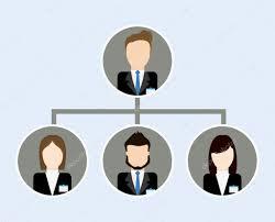 Organization Chart Icon Business Design Vector Graphic