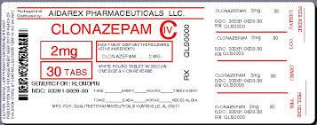 Clonazepam Tablets Usp0 5 Mg 1 Mg And 2 Mg Civ Rx Only
