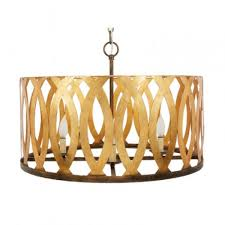 cindi gold metal cutout chandelier