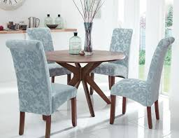 barnle walnut round dining table and chairs