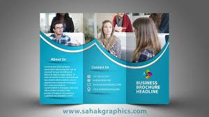 Tri Fold Brochure Online Design Tri Fold Brochure Design In Photoshop Cc Tutorial By Sahak
