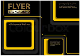Black Flyer Backgrounds Black Flyer Template With Yellow Stock Vector Colourbox