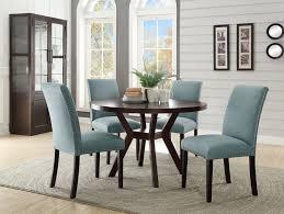 acme 16250 59755 5 pc drake espresso finish wood 48 round dining table set