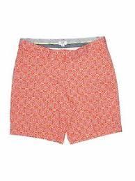 Crown And Ivy Size Chart Details About Crown Ivy Women Orange Khaki Shorts 12 Petite