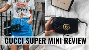 Gucci Marmont Super Mini Review What Fits 6 Ways To Wear It Ciara O Doherty
