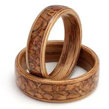 <b>Eco Wood</b> Rings. Custom Design Rings. Oak set with broken olive ...