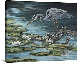 carolyn mock premium thick wrap canvas wall art print entitled heron haven special product on heron canvas wall art with carolyn mock premium thick wrap canvas wall art print entitled heron