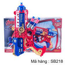 Đồ chơi súng bắn đạn mút người nhện vui nhộn và an toàn cho bé