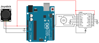 arduino dc motor control with joystick and l293d simple projects Arduino Joystick Schematic arduino joystick dc motor control circuit
