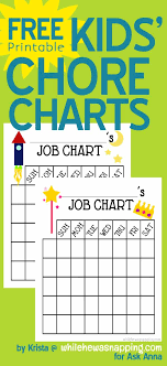 Free Printable Chore Charts For Kids Ask Anna
