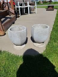 vintage cast stone planter urn
