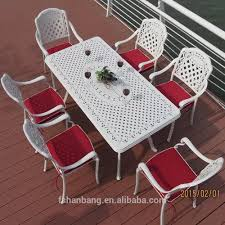 Wholesale Heavyduty Dining Table And Chairs White Bronze Anodized - Heavy duty dining room chairs