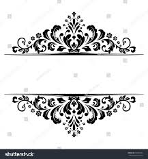 vintage black frame. Vintage Black Frame On A White Background. Graphic Design. E
