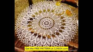 Oval Crochet Doily Patterns Free Fascinating Oval Crochet Doily Patterns YouTube