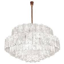 j t kalmar large textured glass chandelier chandeliers and pendants lighting inventory