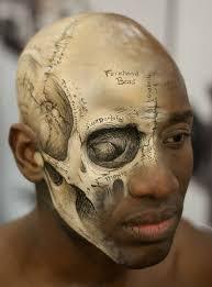 3 exposed skull