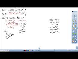 how to solve a quadratic equation using a graphing calculator ti 84